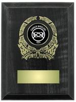 12.5cm Dark Grey Plaque with Trim (V221)