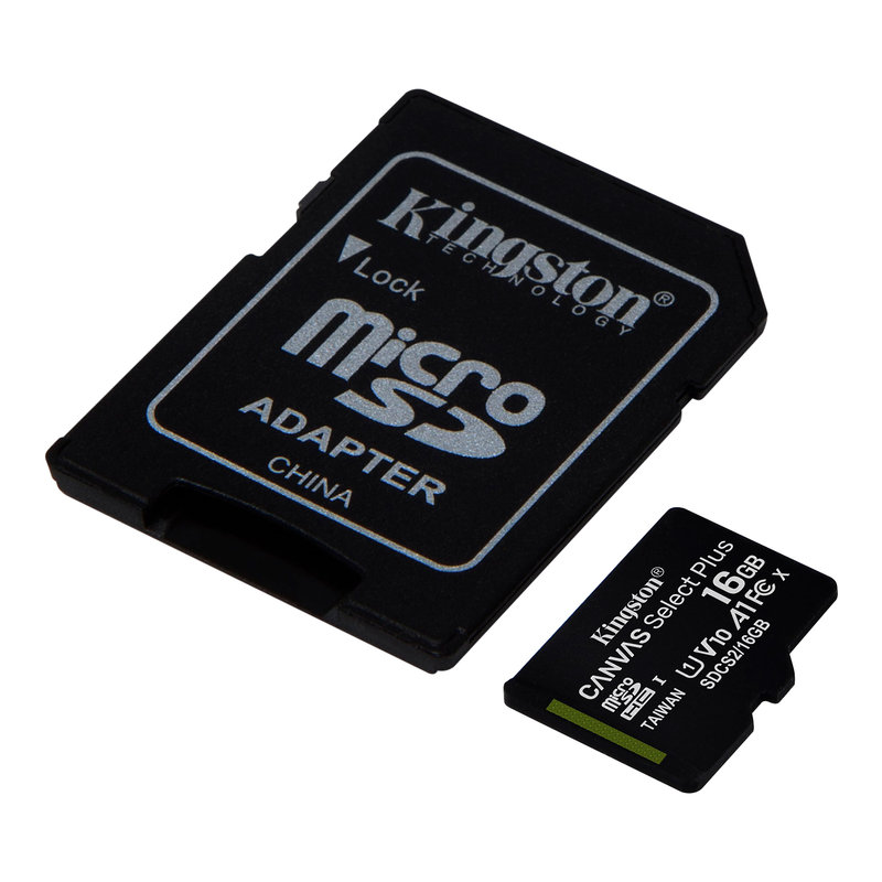 SDCS2/16GB | Kingston Technology 16GB UHS-I microSDHC Memory Card