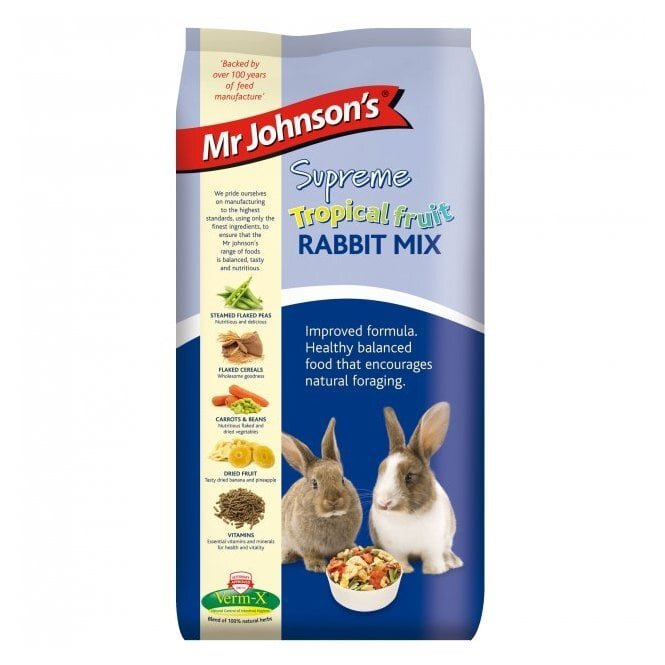Mr Johnsons Supreme Rabbit Tropical Fruit Mix 2.25kg