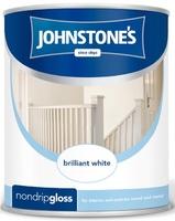 JOHNSTONES NON DRIP GLOSS BRILLIANT WHITE 1.25 LTR