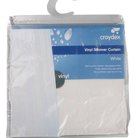 Vinyl Shower Curtain White