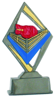 14cm Boxing Ring Plaque (Coloured)