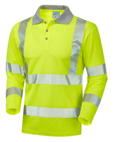 Leo BARRICANE ISO 20471 Cl 3 Coolviz Plus Sleeved Polo Shirt