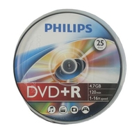 Philips DVD+R 4 7GB 16x SP 25 Pack