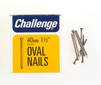 Challenge Bright Steel Oval Nails 40mm 225g - 12014