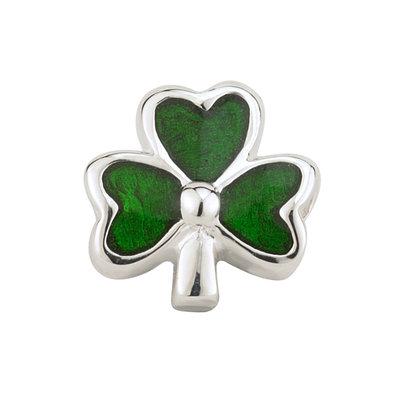 sterling silver green enamel shamrock bead s80146 from Solvar