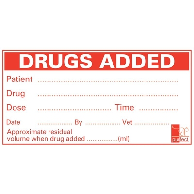 Purfect Labels Drugs Added