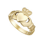 10K GOLD MAIDS CLADDAGH RING