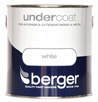 BERGER UNDERCOAT PAINT BRILLIANT WHITE 2.5 LTR