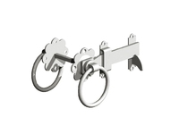 175mm Ring Gate Latch Pre-Packed