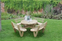 CIRCULAR PICNIC TABLE WITH SEAT BACKS - CPT208SBHD