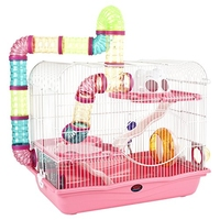 Little Zoo Henry Hamster Cage Pink x 1