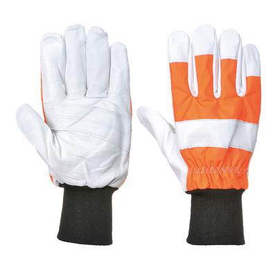 Portwest Oak Chainsaw Protective Glove Hi-Vis Orange