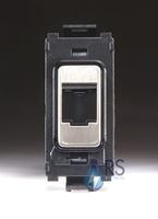 Flatplate Grid Stainless Steel Telephone Point Module black LV0701.1338