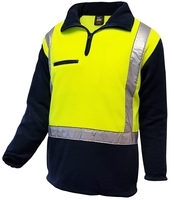 Techni Vision Hi Vis Day/Night 380gsm Fleece Jumper with Pockets