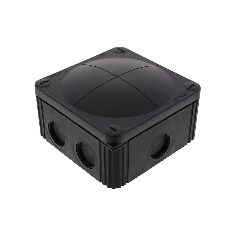 Wiska Combi 607 Junction Box Black 10061779