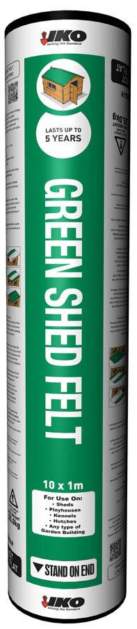 Iko Shed Felt Green Mineral 10x1m