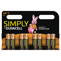 Duracell Simply AA 8pk