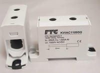 FTG 6-95SQ DIN RAIL Power Block Grey