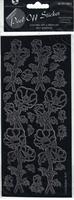 Anemones Flower Black Peel-Off Stickers. (Priced in singles, order in multiples of 6)
