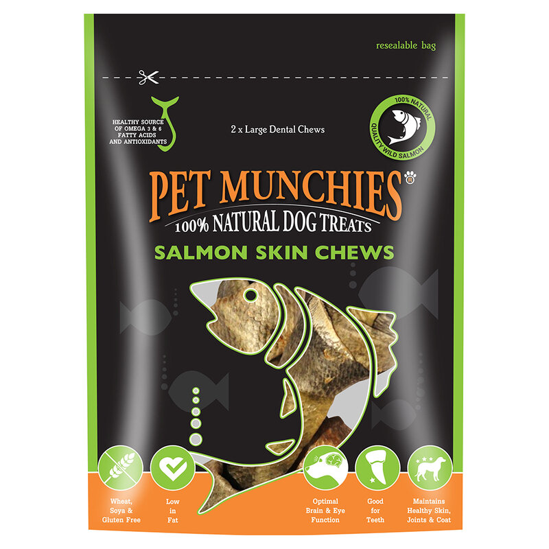 Pet Munchies Salmon Chews Large 6 x 125g