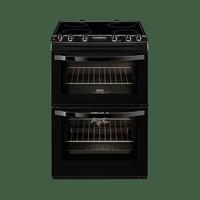 Zanussi ZCV68300BA 60cm Ceramic Top Double Oven - Black