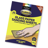 PVGP40/25 PROSOLVE GLASS SANDPAPER SHEET 9X11""