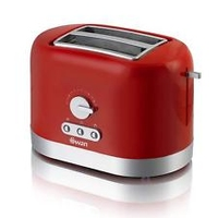 SWAN 2 SLICE TOASTER RED