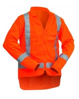 Hi Vis TTMC-W Long Sleeve Safety Vest