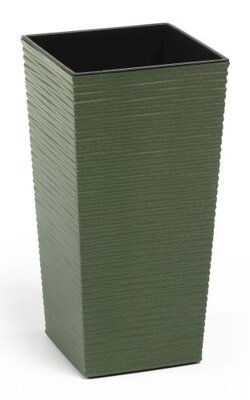 Finesse ECO Chisel Planter Tall Square 25cm - Forest Green