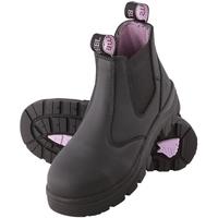 Steel Blue Hobart Women's Slip On Safety Boot Black