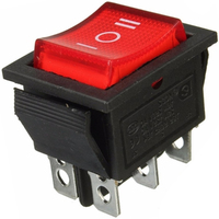 Switch | Rocker Switch Illuminated 6 Pins DPDT ON-OFF-ON