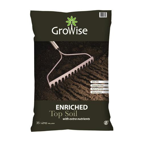 Growise Enriched Top Soil - 35L