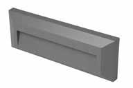 TWILIGHT 2W LED rectangular wall li ght, IP65, Grey, 3000K