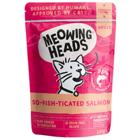 Meowing Heads Pouch So-fish-ticated Salmon 100g x 10