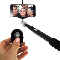 Selfie Stick with 1 metre extension arm and BT Remote