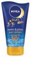 Nivea Sun Swim And Play Lotion Spf50 150ml