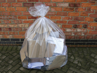 18425 Clear Refuse Sacks 630/1170x1200mm 40Mic (Box 100)