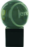 15cm Crystal Award with Sliotar | TC23