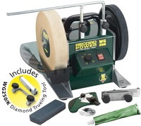 Record WG250-PK/A 10'' Wetstone Grinder with Diamond Truing Jig - 160watt variable speed motor 90-150rpm,