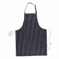 Butchers Striped Bib Apron Navy/White - S839