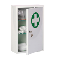 Metal First Aid Cabinets - With Contents
