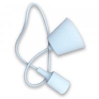 White Silicone Pendant
