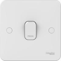 Schneider LWM 1 gang 1 way 10A retractive plate switch