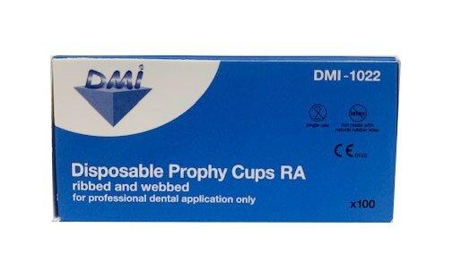 DMI RA Rubber Cups 100pk - DMI Dental Supplies Ireland - Next Day Delivery