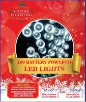 100 LED BATTERY COOL WHITE LIGHTS COMES WITH 6HR TIMER