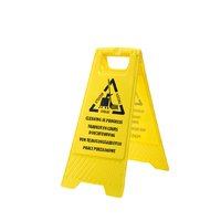 Cleaning In Process Sign Hi-Vis Yellow