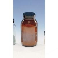 Powder Bottles Amber 4Oz Black Cap/Pvdc, Glas