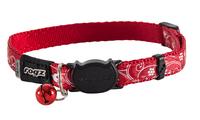 Rogz Silkcat Cat Collar - Red Filigree x 1