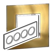 Arteor (British Standard) Plate 8 Module Round Gold Brass | LV0501.2787